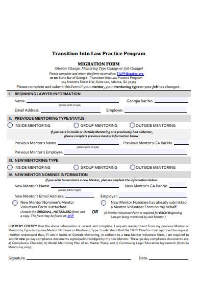 migration information form