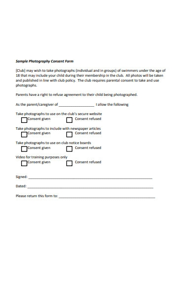 model photography form1