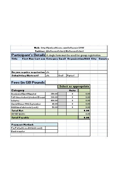 multiple student registration form