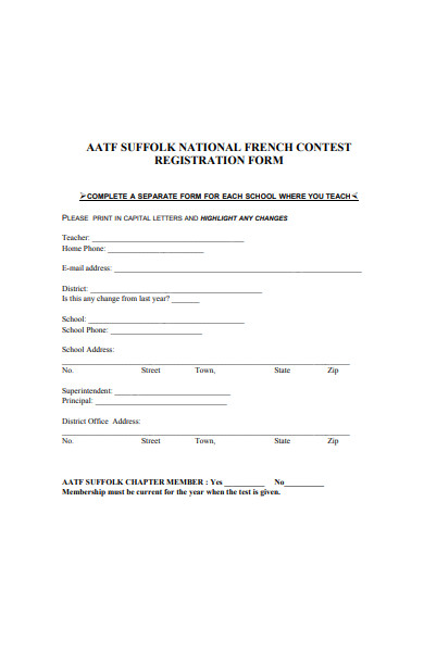 national french contest registration form