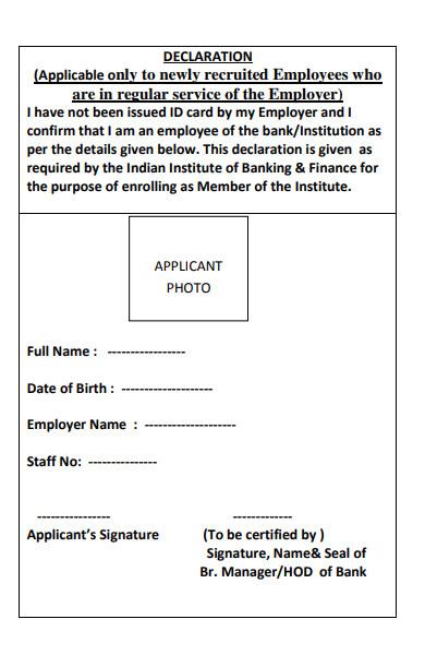 new employee declaration form