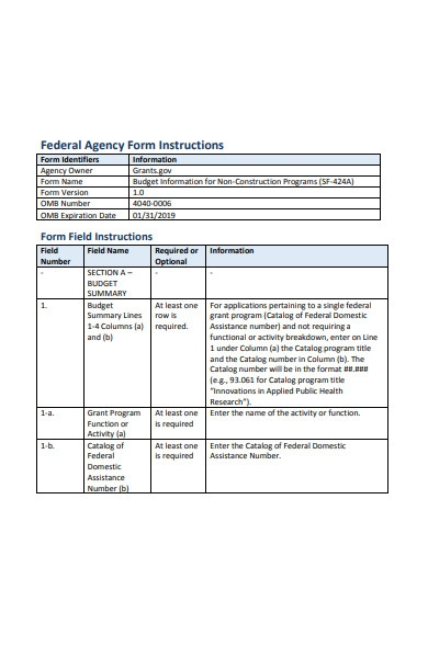 non construction agency form