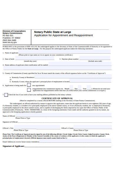 notary public form