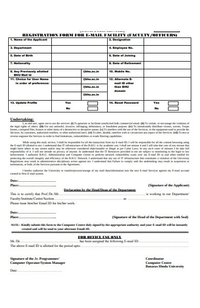 officer facility form