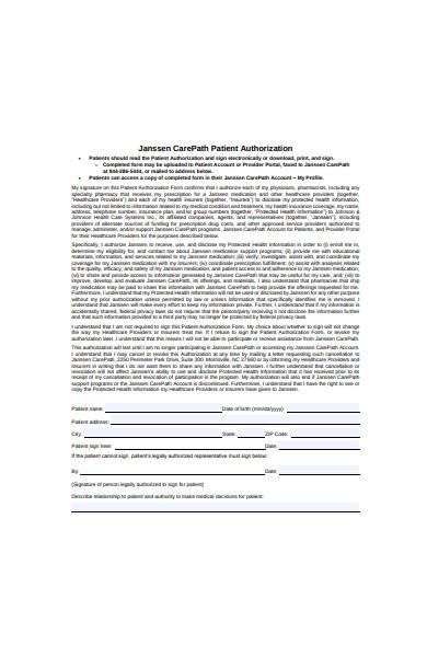 patient authorization form in pdf