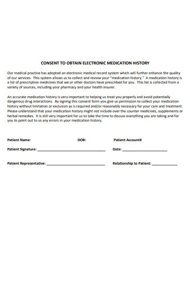 patient electronic medication form
