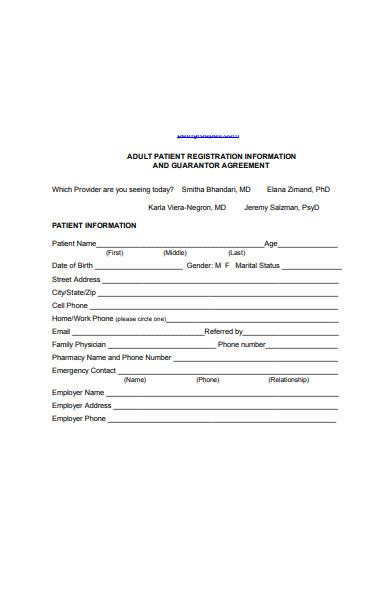 patient information guarantor form