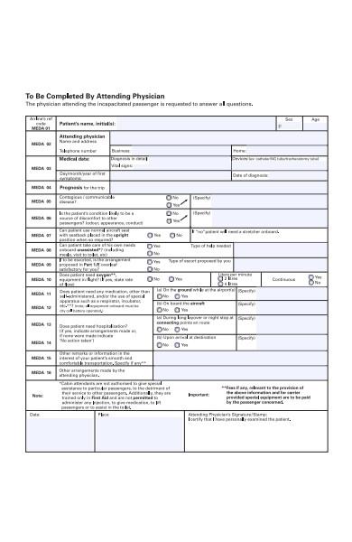 patient medical form