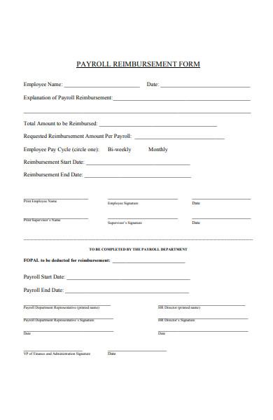 payroll reimbursement form