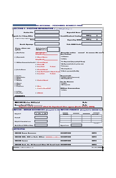 personal appointment request form
