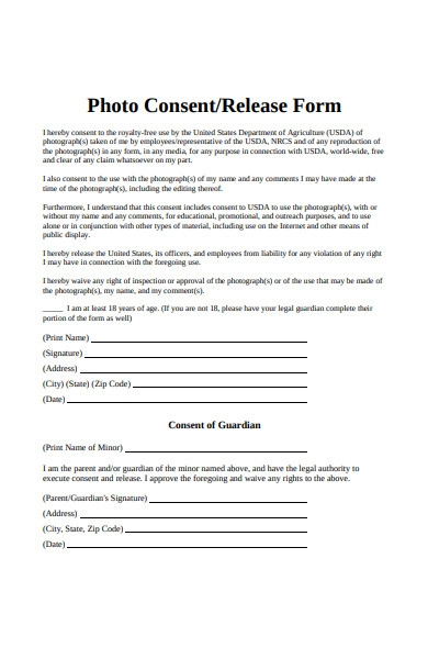 photo consent release form