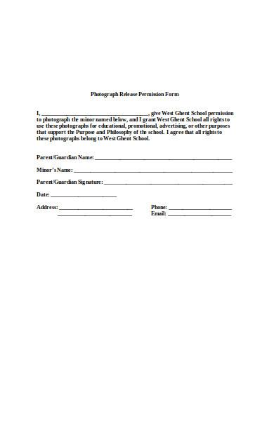 photo release permission form1