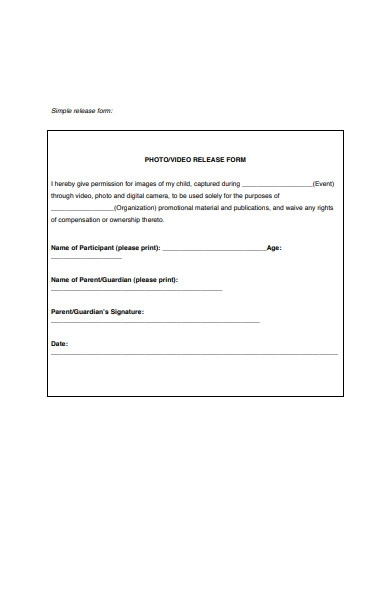 photo video release form1