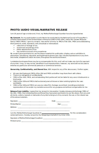 photo visual release form