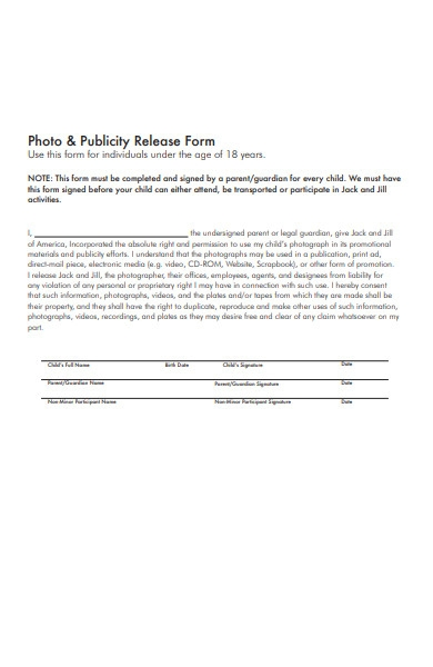photo and publicity release form1