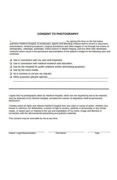 photography agency form
