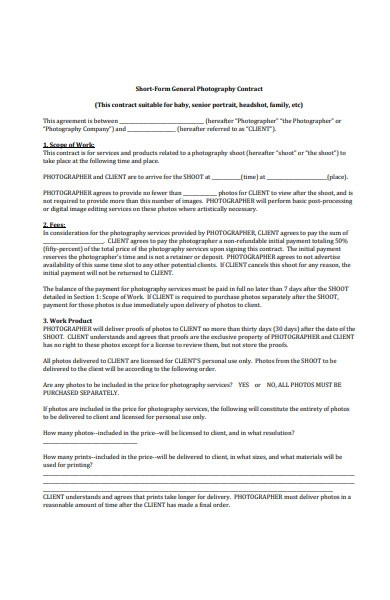 photography contract form1