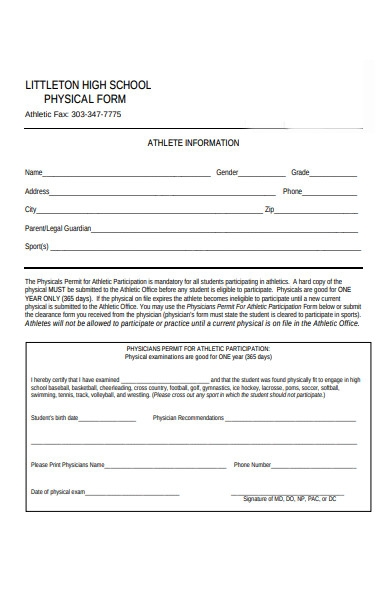 physical permit form