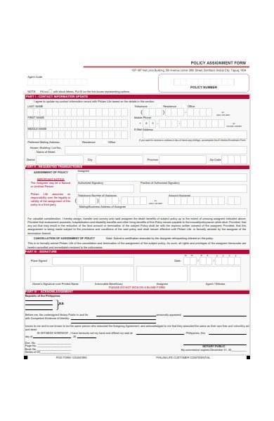 Free 51  Assignment Forms In Pdf