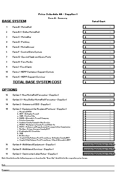 price proposal form