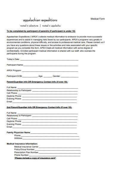 printable medical form