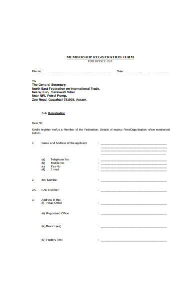 printable membership registration form1