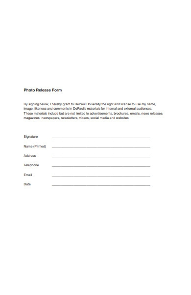 printable photo release form