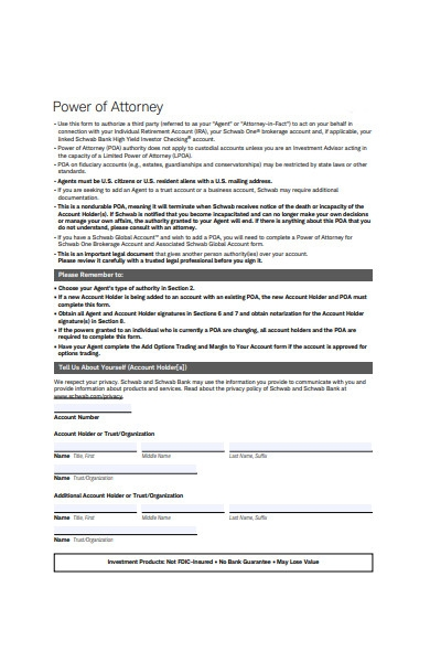 printable power of attorney form