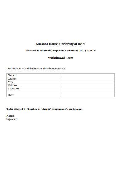 printable withdrawal form