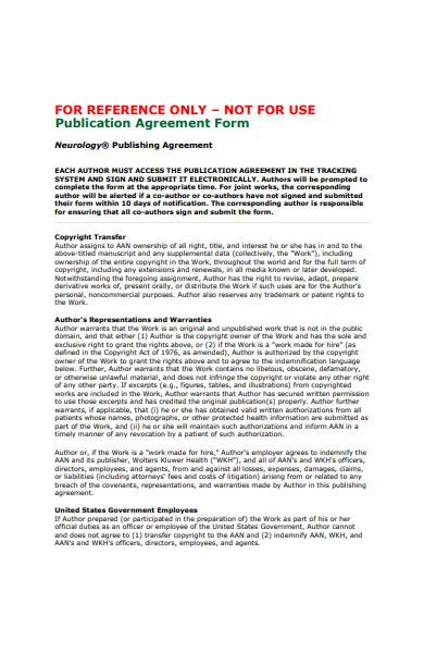 publication agreement form