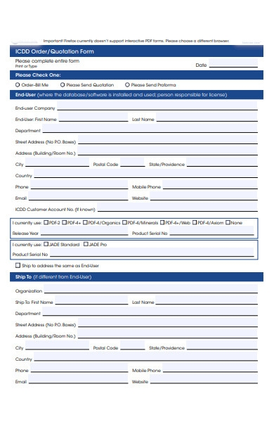 quotation order form