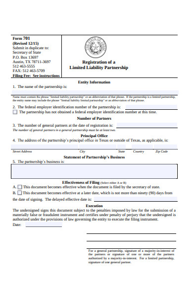 registration of limited liability partnership form