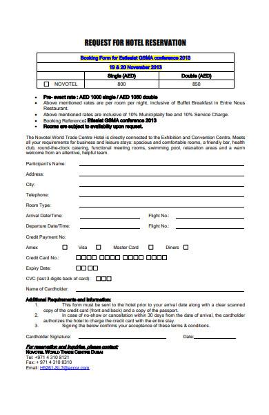 request hotel registration form