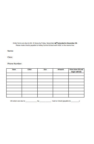 school apparel order form