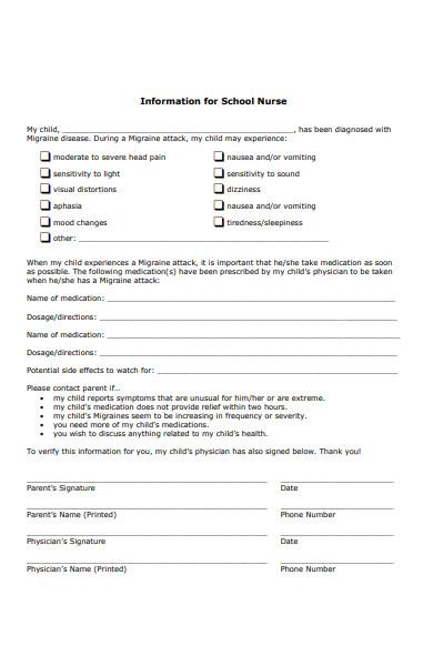 school information form
