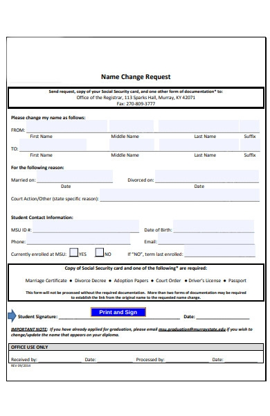 security name change form