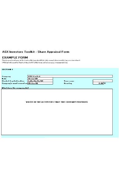 share appraisal form2