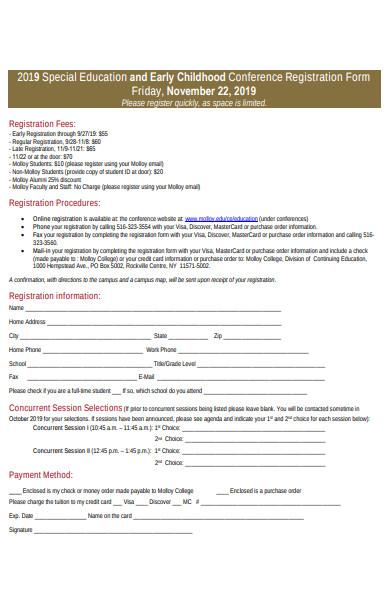 simple conference registration form