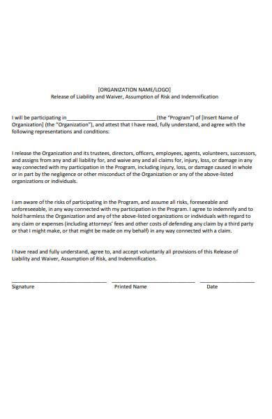 simple liability form