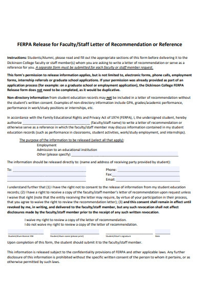 staff recommendation letter form