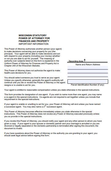 statutory attorney form