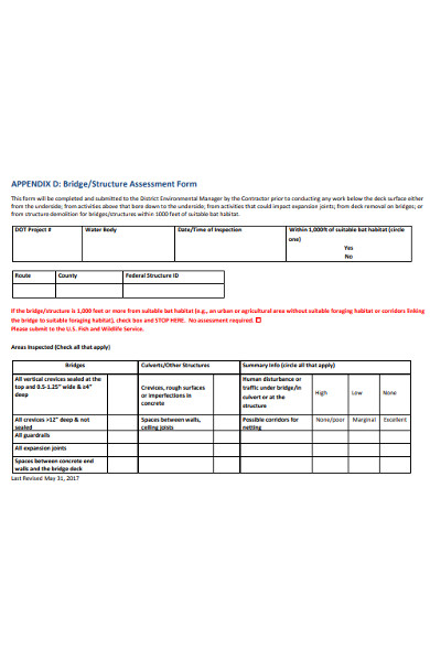 structure assessment form