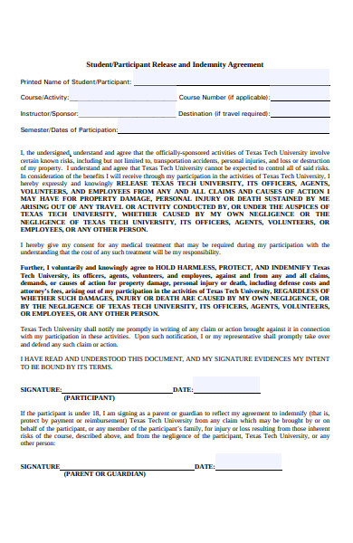 student activity release form
