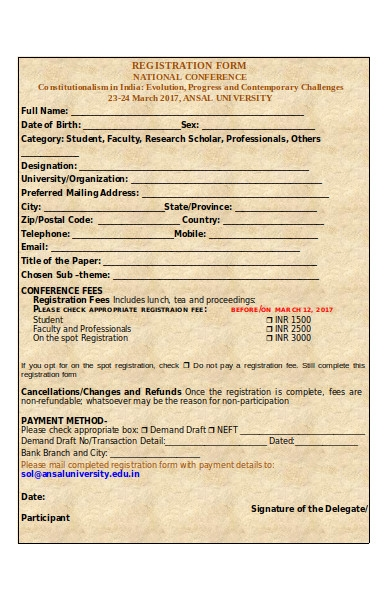 student faculty registration form