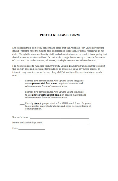 student photo release form1
