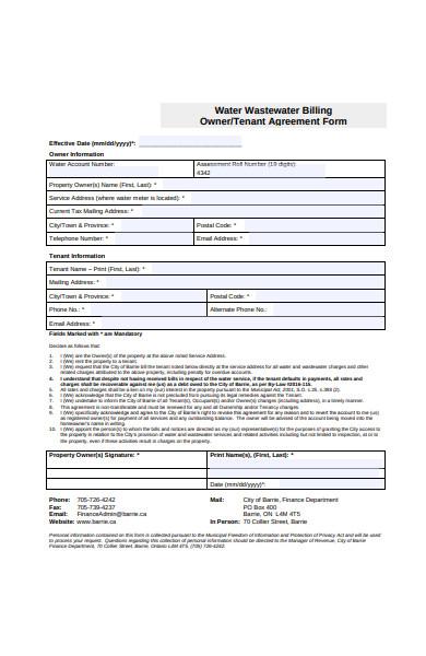 tenant agreement form