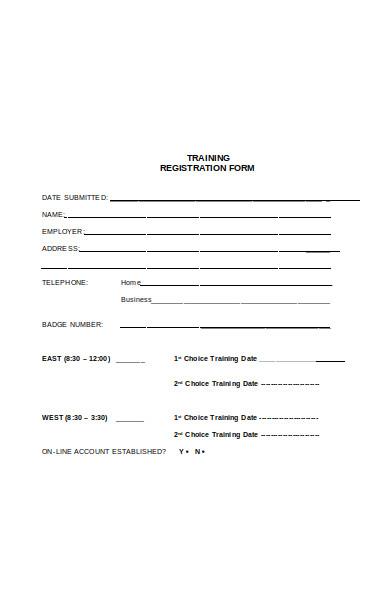 trademark training form