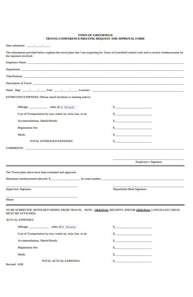 travel meeting request form