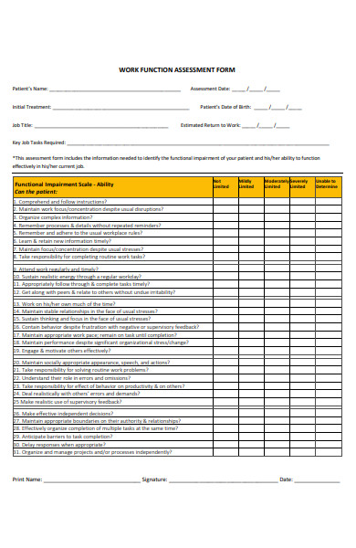 work function assessment form1