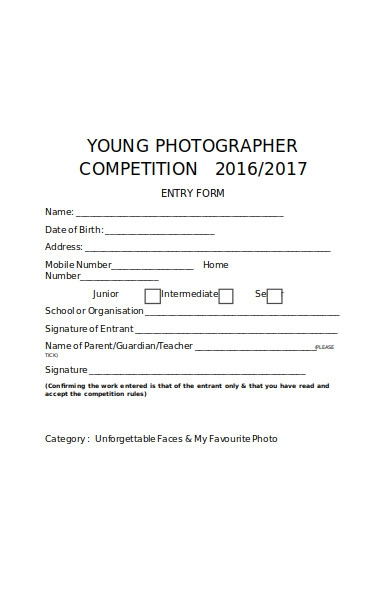 young photography form